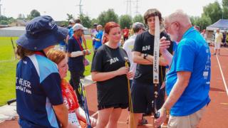 Sophie Washington ahead of her archery competition