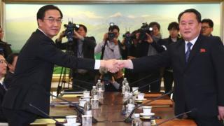شمالی و جنوبی کوریا کے وفود
