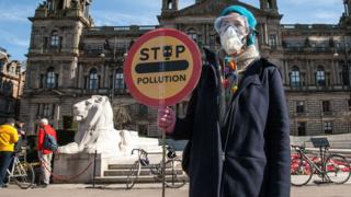 Anti-Pollution demonstration in Glasgow