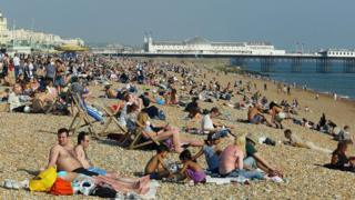 people on brighton beach