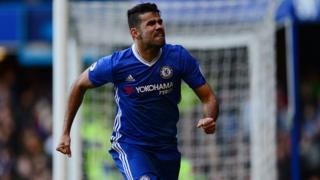 Diego Costa, désormais à la tête du classement des buteurs avec 12 réalisations