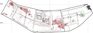 Drawing from geophysical survey of area around Deer Abbey