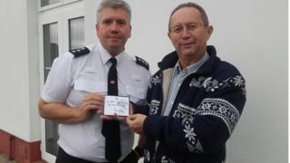 Chief Inspector Lamerton and David Davies