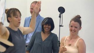Kully Thiarai at a rehearsal