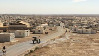 Zataari refugee camp in northern Jordan
