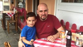 Andreas Ketselides and his son