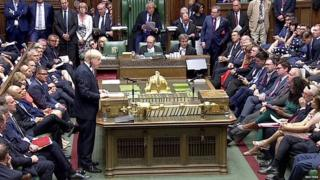 Boris Johnson speaking for the first time as prime minister in the Commons