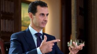 """Asad ayaa horey Mareykanka kusheegay """"inay moodaan in caalamka ay ayaga masuul ka yihiin """"."""