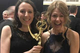 Anna McCleery and Vicki Lutas at the Emmys