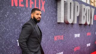 Drake at the Top Boy premiere