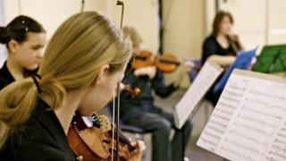 Pupils playing music