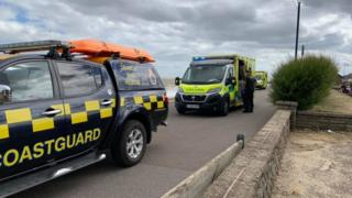 Coastguard and EEAST at the scene in Felixstowe