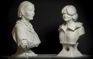 Busts of Maggie Keswick Jencks and Mary Slessor