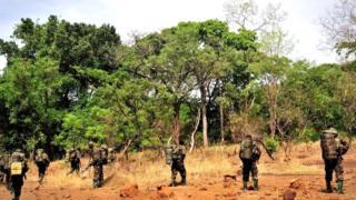Ces forces basées à Obo ont coopéré avec les soldats ougandais qui sont déployés dans cette région