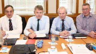 Meurig Raymond NFU president; Barclay Bell UFU president; Stephen James NFU Cymru; Andrew McCormick NFU Scotland