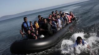 Türkiye'den Yunanistan'a ulaşan bir bot, Eylül 2015