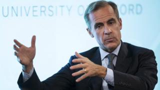 Bank of England Governor Mark Carney makes a speech at The Sheldonian Theatre in the University of Oxford on October 21, 2015