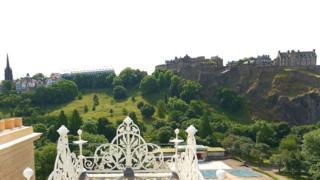 View of Edinburgh Castle from 100 Princess Street