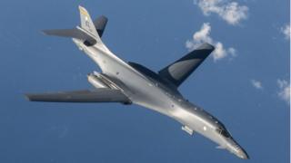 В маневрах над Корейским полуостровом принимали участие американские бомбардировщики В-1В
