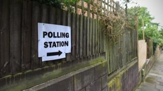 Polling station at the 2017 general election