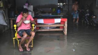 Man at home in Thai province of Nakhon Si Thammarat