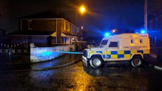 The shooting happened in the Whiterock Drive area of west Belfast