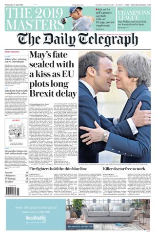 The Telegraph Wednesday