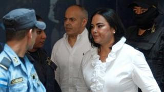 Former first lady Rosa Elena Bonilla de Lobo arrives at a court hearing after being convicted on graft charges, in Tegucigalpa, Honduras August 20, 2019.