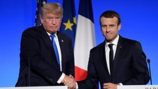 امانوئل مکرون و دونالد ترامپ