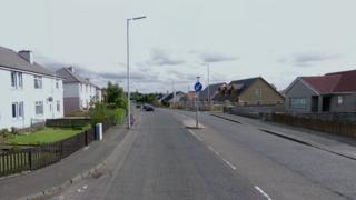Wishaw Road near Burnhall Street
