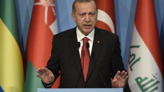 Erdoğan İslam İşbirliği Teşkilatı'nda konuşuyor
