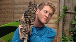 Hugh Wigmore with Nigel the cat