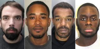 Four men jailed for shooting