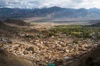 An aerial view of Ladakh
