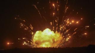Пожежа і детонація боєприпасів на військових складах у Вінницькій області