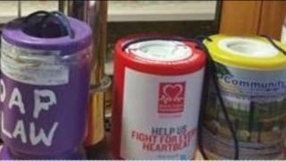 charity tins