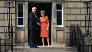 Carwyn Jones and Nicola Sturgeon
