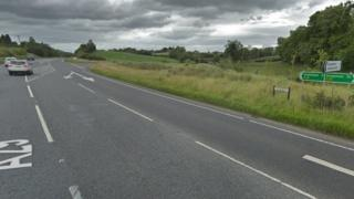 The A29 road in County Tyrone