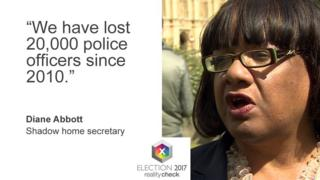 "Diane Abbott: ""We have lost 20,000 police officers since 2010."""