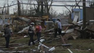 Последствия торнадо в штате Миссисипи