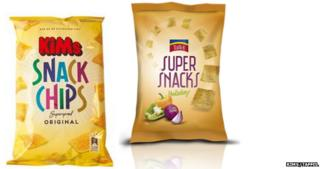 A picture of the two crisp packets