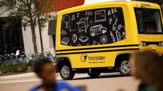 Transdev shuttle bus