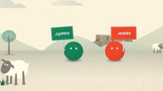 Still image from a Nominet promotional video for .wales and .cymru