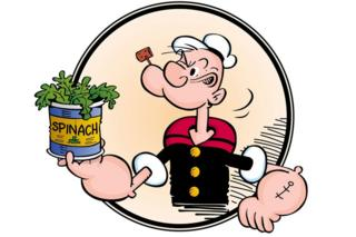 Popeye eating spinach