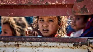 Child refugees from offensive arrive in Syria's north-western Hasakeh province - 10 October