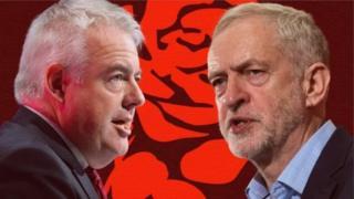 Carwyn a Corbyn