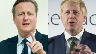David Cameron (l) and Boris Johnson