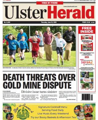 Front page of this week's Ulster Herald