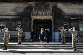 in_pictures Nicola Sturgeon was joined by Fiona Hyslop MSP and Ch Con Iain Livingston