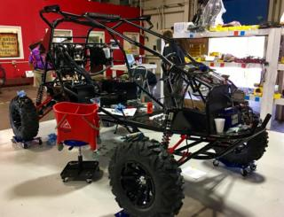 One of the vehicles that Skyrunner is making in one corner of the old AT&T site